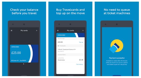 TfL Oyster and Contactless App