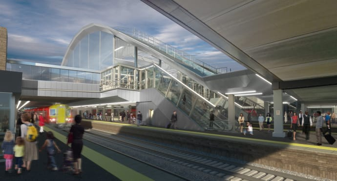 Gatwick Airport station - artists impression